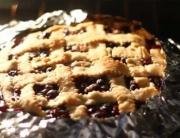 Homemade Crust Lattice Topped Spiced Blueberry Pie - Part 2