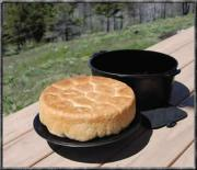 A black Dutch oven