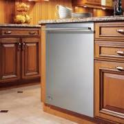 Efficiency and capacity in GE dishwasher.