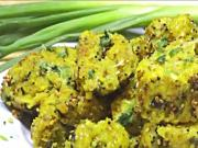 Oat & Spring Onion Muthia - Steamed Savory Quick & Healthy
