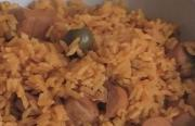 Spanish Rice with Vienna Sausage