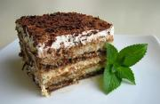 Tiramisu made from cocoa mix