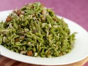 Hariyali Mixed Sprouts Pulao (Diabetic Friendly) by Tarla Dalal