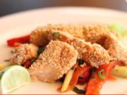 Sesame Seed Crusted Salmon Fish Sticks