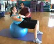 Fitness Ball Abdomen Exercise
