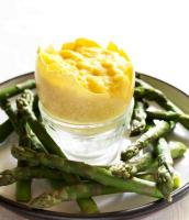 Mark Hix's Scrambled Rhea Egg in Shell with Asparagus Soldiers