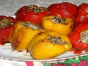 Peppers with Rice and Walnut Stuffing