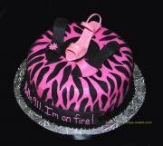 pretty bachelorette cake