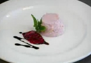 Strawberry Mousse with Traditional Balsamic Vinegar of Modena