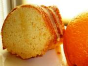 Cake Slices with Orange Sauce