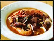 Cacciucco is a delicious fish stew - eaten with bread.