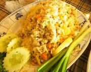Spicy Fried Rice with Pineapple and Coconut
