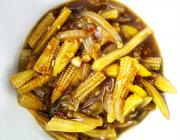 Golden Fried Baby Corn in Soya Sauce