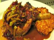 Pork Chop with Apple Bacon Demi-Glaze