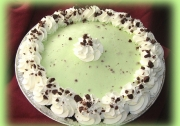 Chocolate mint silk pie