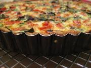 Tomato, Zucchini & Basil Phyllo Tart