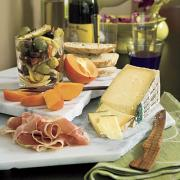 quick holiday appetizers - instant Italian cheese tray