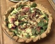 Vegetable Quiche' with Ham and Cheese
