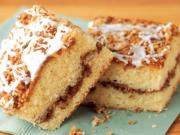 Sour Cream Coffee Cake with Pecan Streusel & Maple Glaze