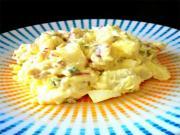 Potato Salad with Salmon and Prawns