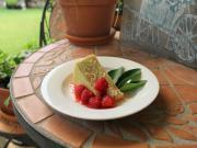 Avocado Cheesecake with a Raspberry Margarita topping