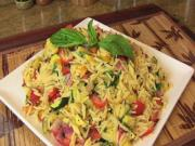 Grilled Vegetable Orzo Pasta Salad- Vegetarian