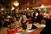 People dining at restaurant