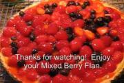 Summer Berry Flan