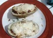 Chili Cheese Baked Potato Skins