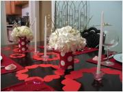 ideas for setting valentines dinner table