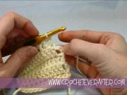 Left Hand Double Crochet Tutorial #13: DC in the Back Loop Only
