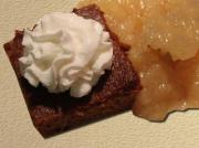 Warm Ginger Cake with Peaches and Cream