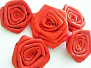 How to Make Large Ribbon Roses