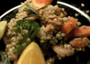 Rosemary-Citrus Buckwheat and Shrimp with Mixed Veggies