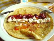 Griddle Cakes With Grape Jelly
