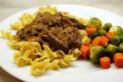 Beef Stroganoff is a classic Russian dish which originated in the 19th century.