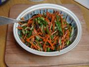 Carrot Salad with Wasabi Dressing - Vegan