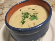 Vegan Cauliflower Cream of Asapargus Soup