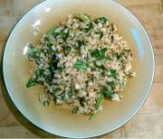Spinach And Brown Rice Greek Style