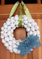 how to decorate with nuts -  epitomized by painted walnut wreaths !