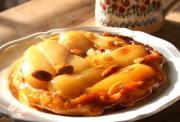 Pear & almond tart Tatin