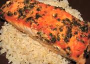 Delicious Garlic Ginger Basil Salmon