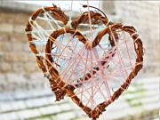 How to Make Wicker Heart Decoration