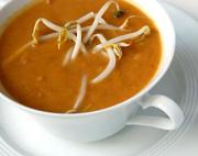 Peanut soup for Kwanzaa traditional dinner menu