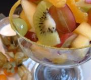 A bowl of fresh fruits can provide the essential colon cleansing vitamins.