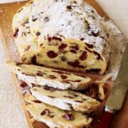 Freshly baked holiday bread