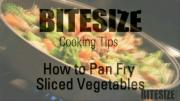 Tips To Pan Fry Sliced Vegetables