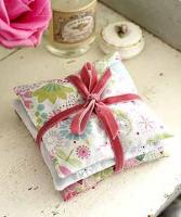 Scented rice sachets made to keep closets fresh