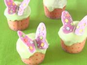 Spring Tea Party Butterfly Cupcakes