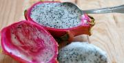 Dragon fruit is a delicious fruit to eat.